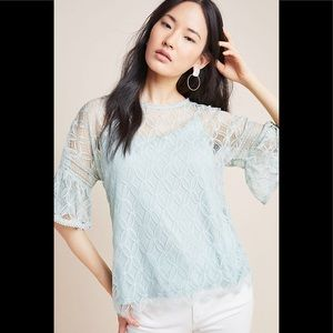 Anthropologie Bl-nk Remni Sky Lace Blouse
